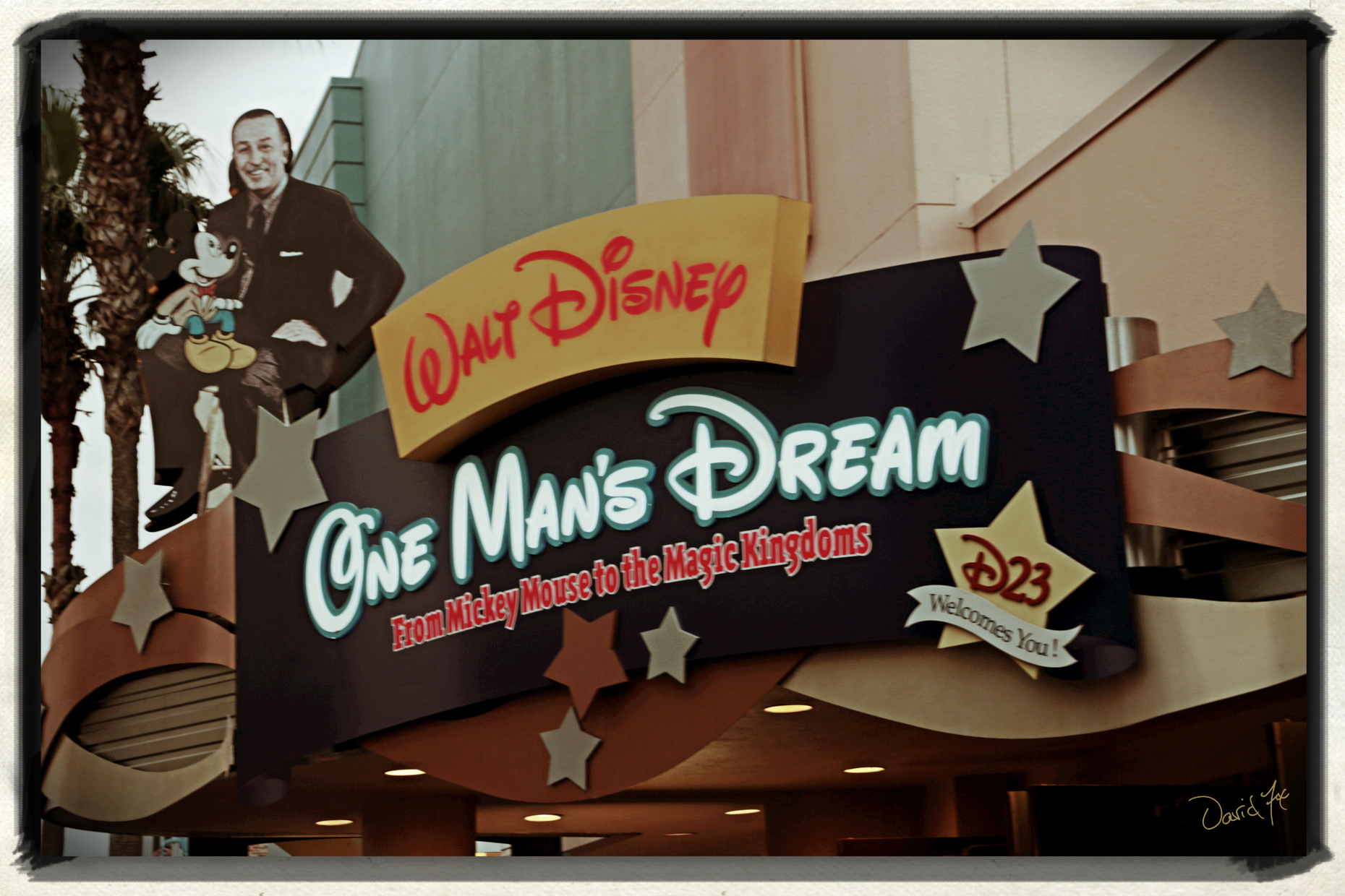 Disney Entrance One Mans Dream by David Fox Photographer