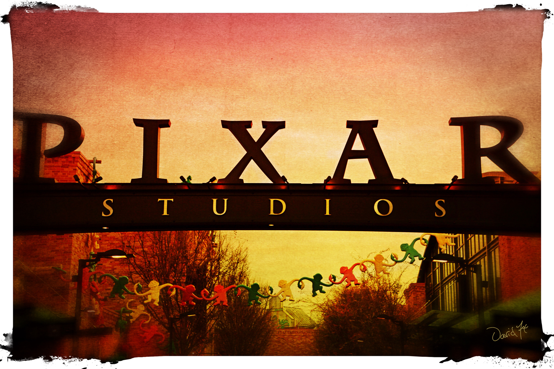 Disney Pixar Studios Digital Art by David Fox Photographer