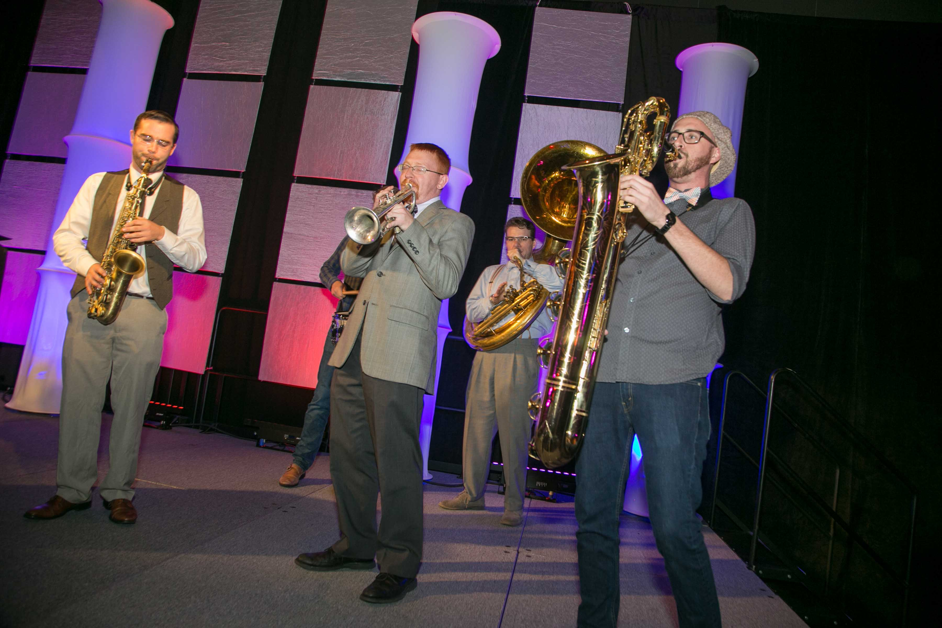 Brass Band Playing at the Build Fest Boston Gala 2016