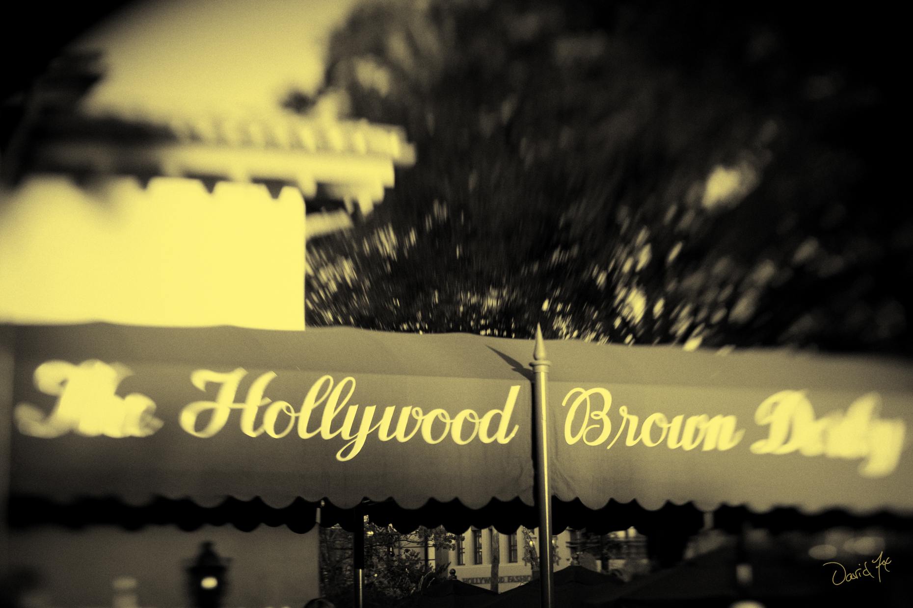 Hollywood Brown Derby Disney Sepia David Fox Photography
