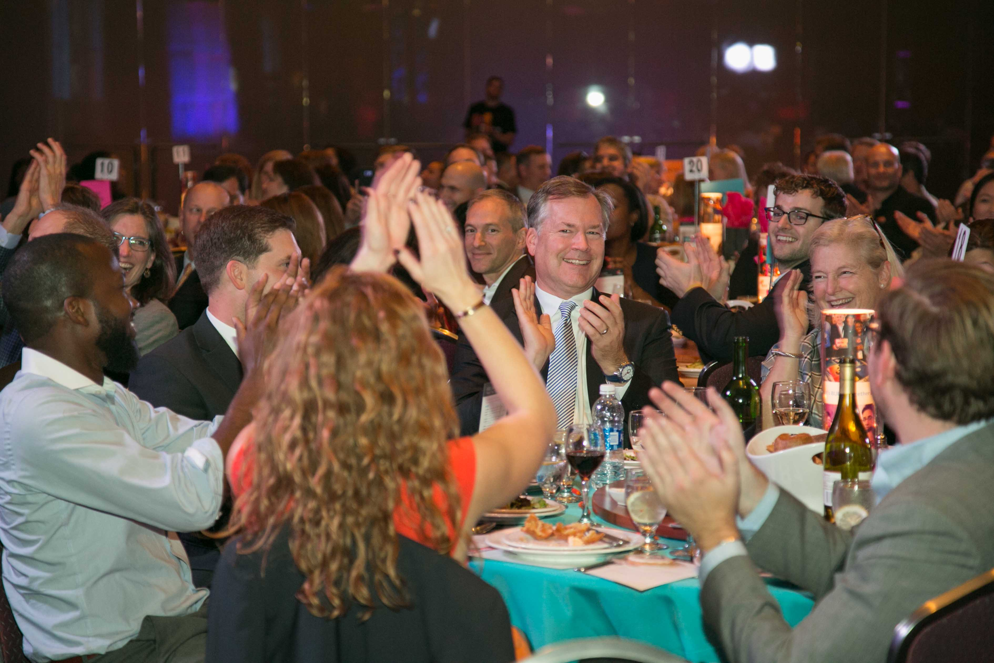 Guests Applauding at Build Fest Boston Fundraising Gala 2016