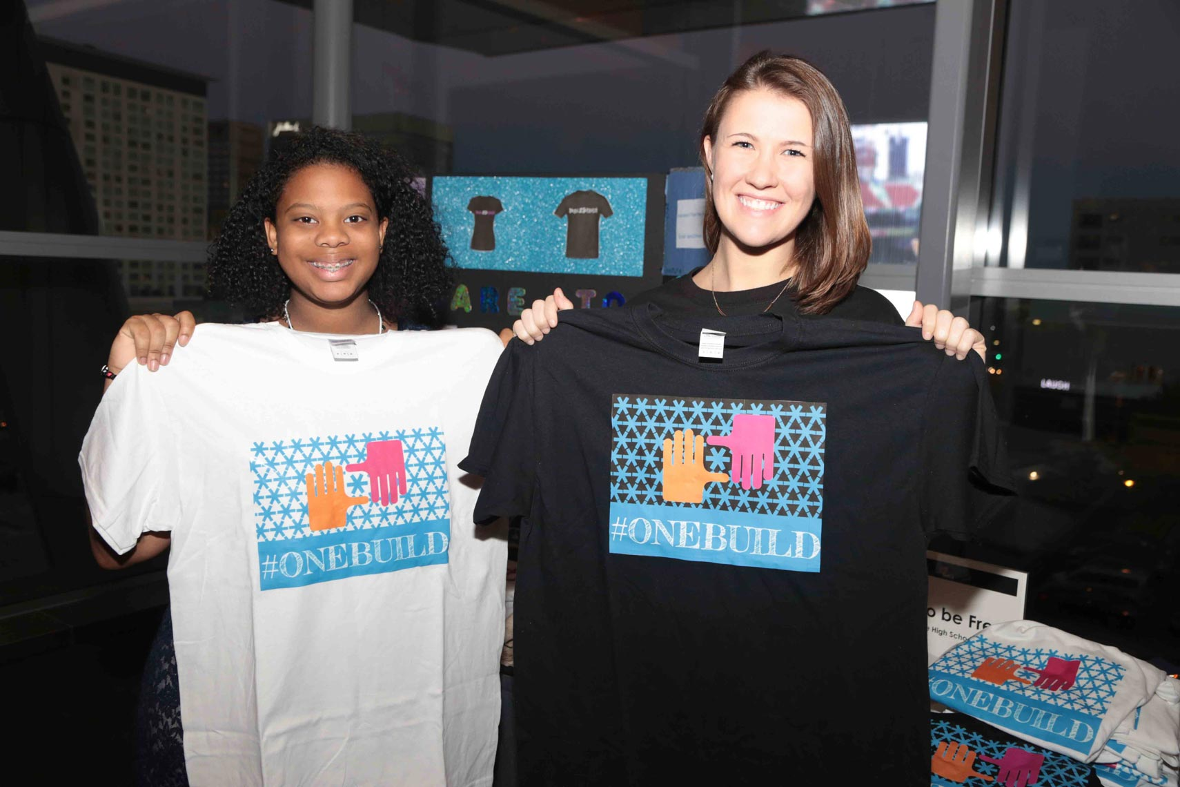 One Build T-Shirts for Sale at BUILDfest Student Business Expo