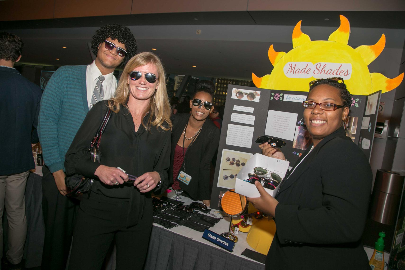 Made Shades Smiles at BUILDfest Student Business Expo