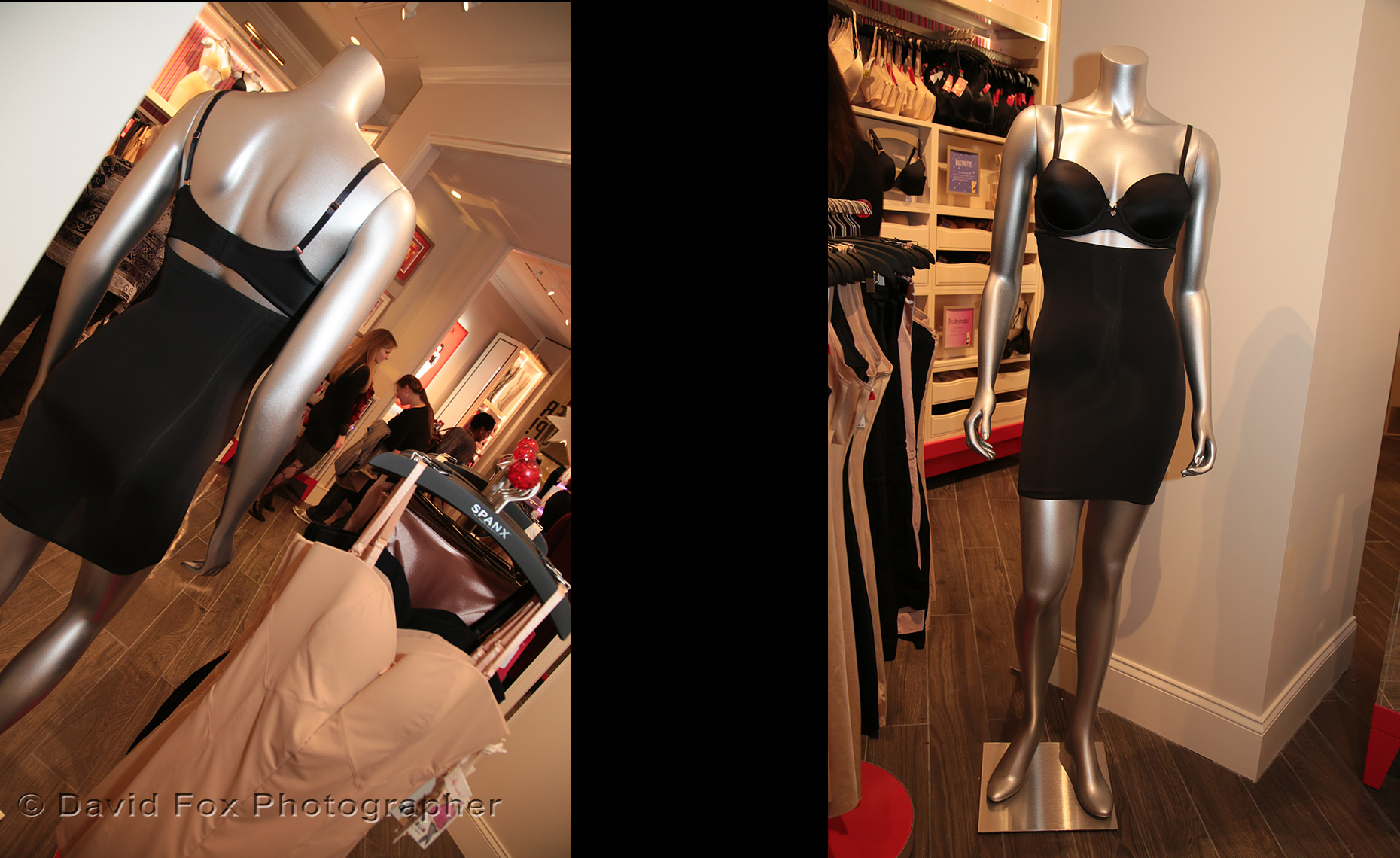 Mannequin Front and Rear Views at Spanx Natick Store