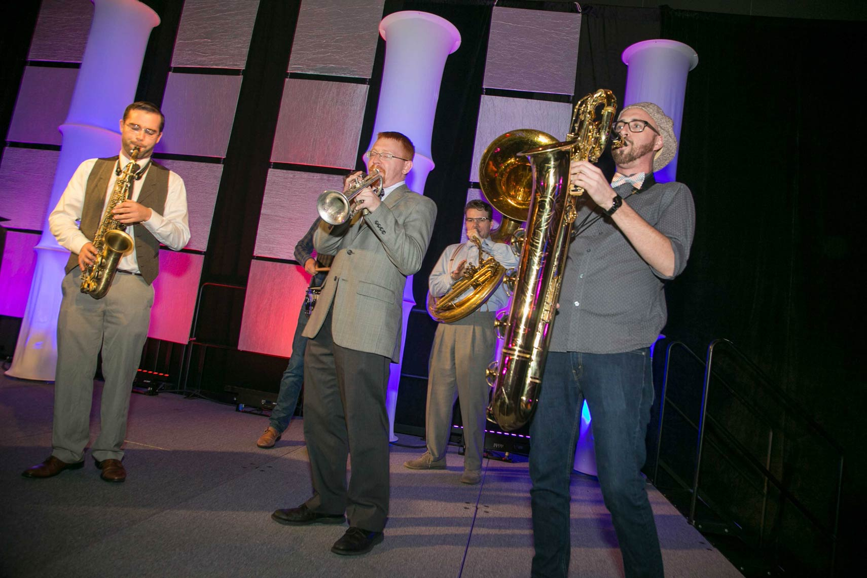 Brass Band Playing at the BuildFest Boston Gala 2016