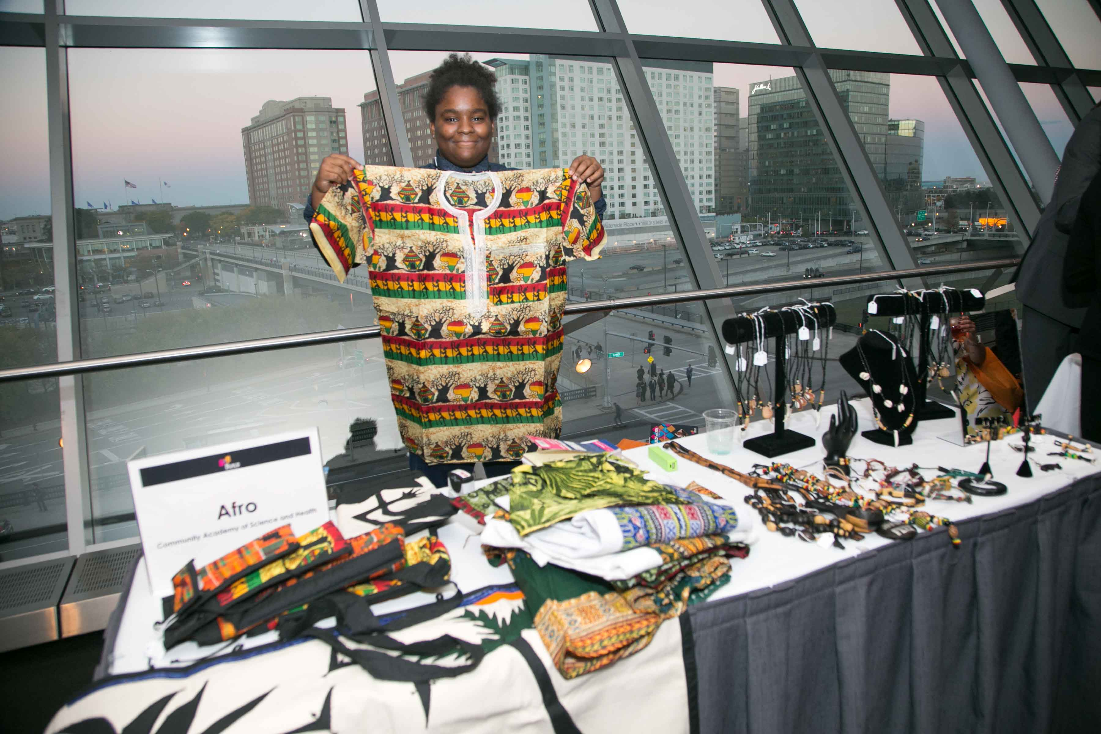 Afro Entrepreneur displays products at BUILD Fest Student Expo