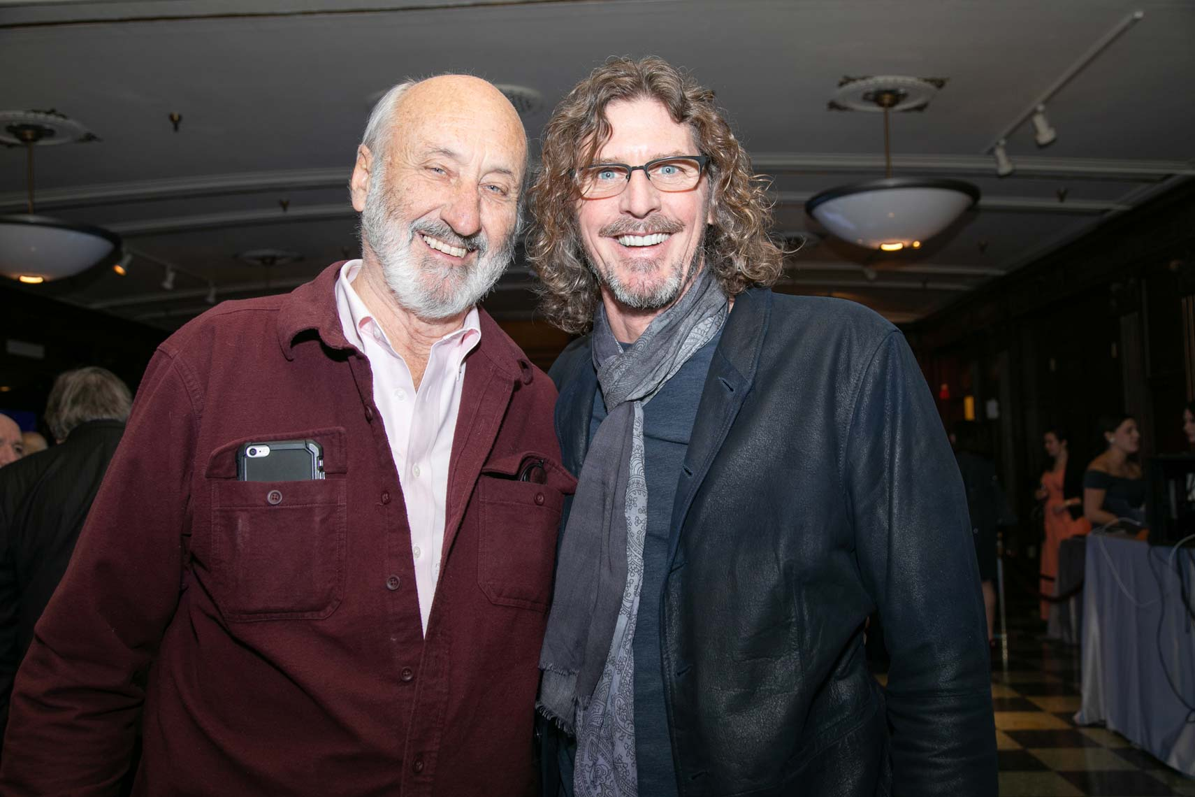 Noel Paul Stookey with music philanthropist Ernie Boch Jr at the Boch Center
