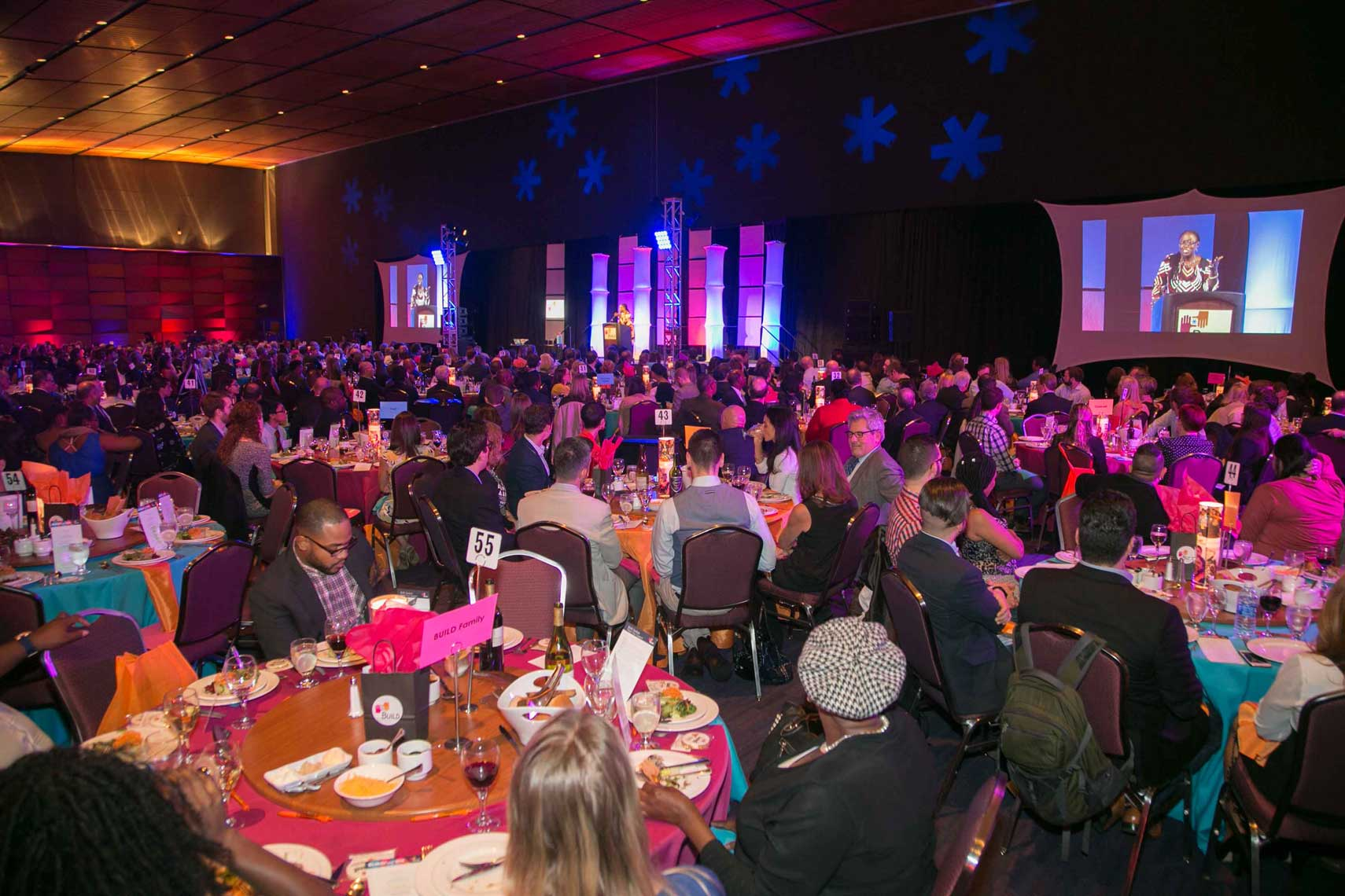 Guests Dining at Buid FestBoston 2016 Awards Gala