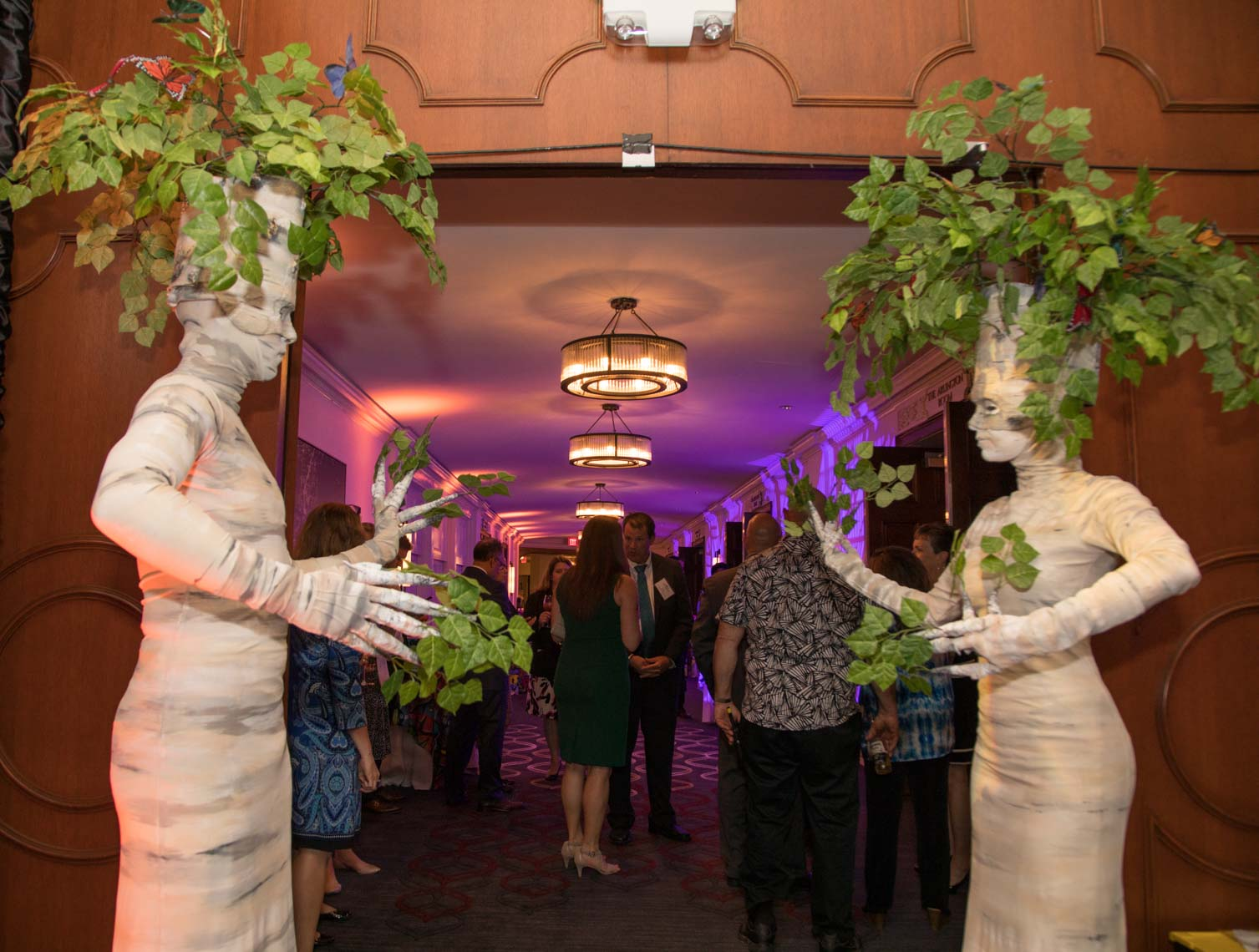 Living Birch Trees by Ten31 Productions at the MPINE Gala 2017