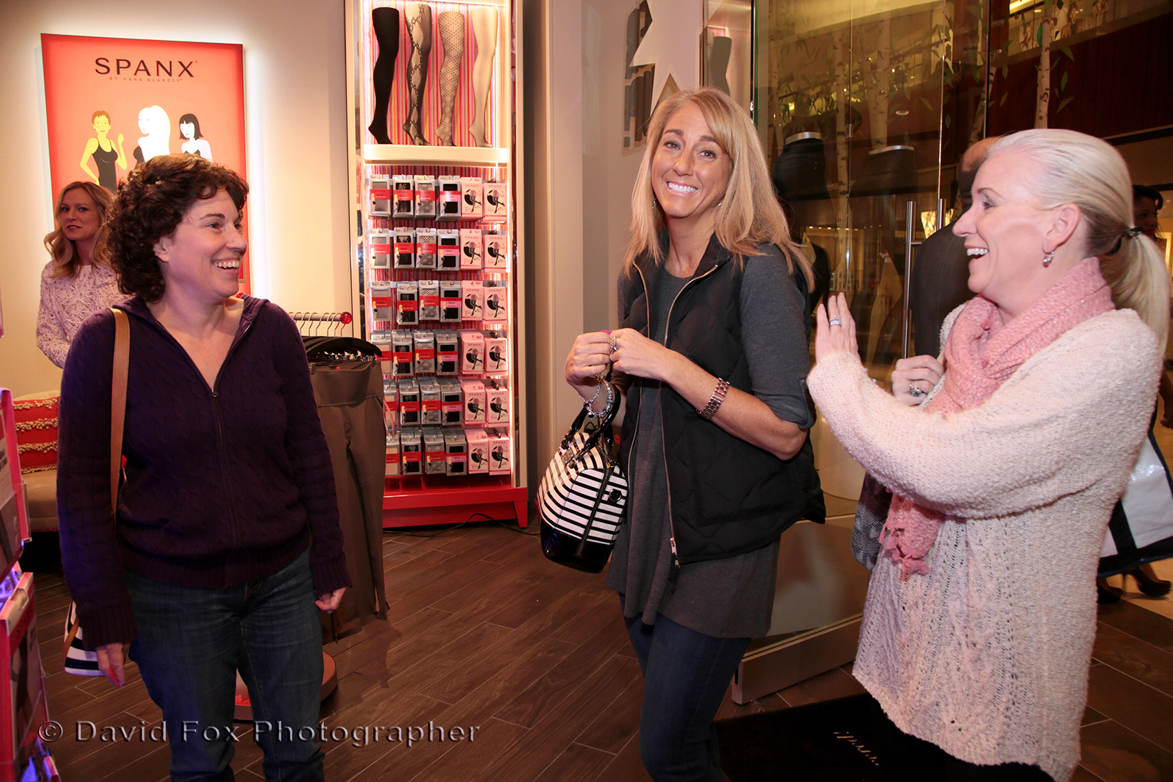 Mingling at Spanx Store Opening David Fox Photographer