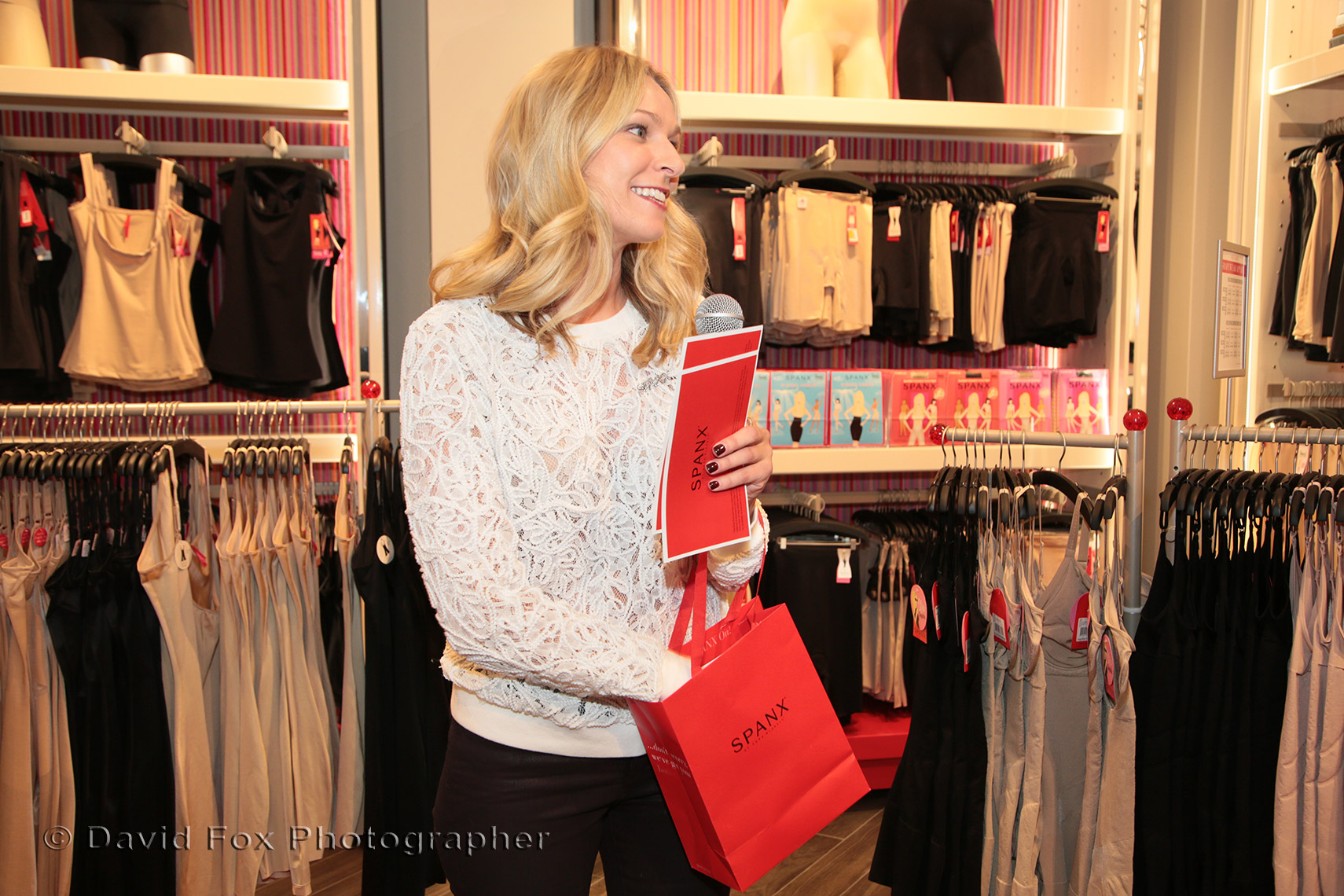 Raffle Drawn by Employee at Natick Spanx Store Opening