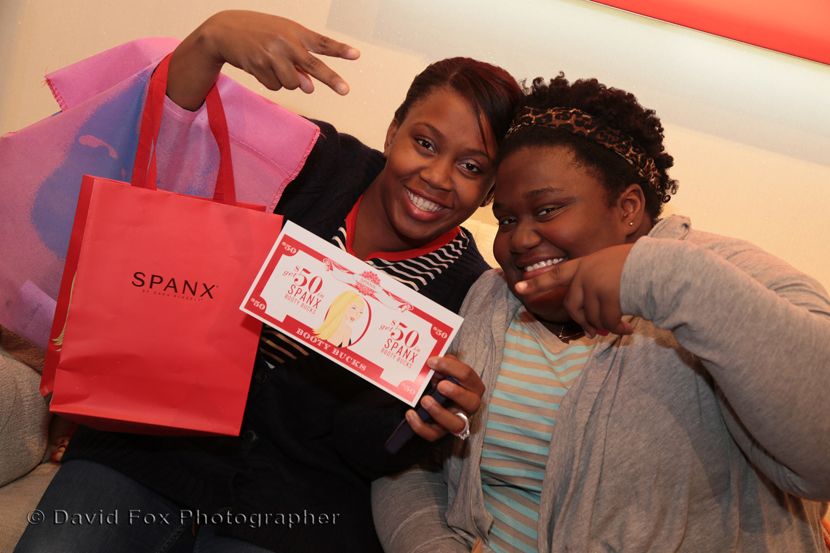 Happy Raffle Winners at Spanx Store Grand Opening