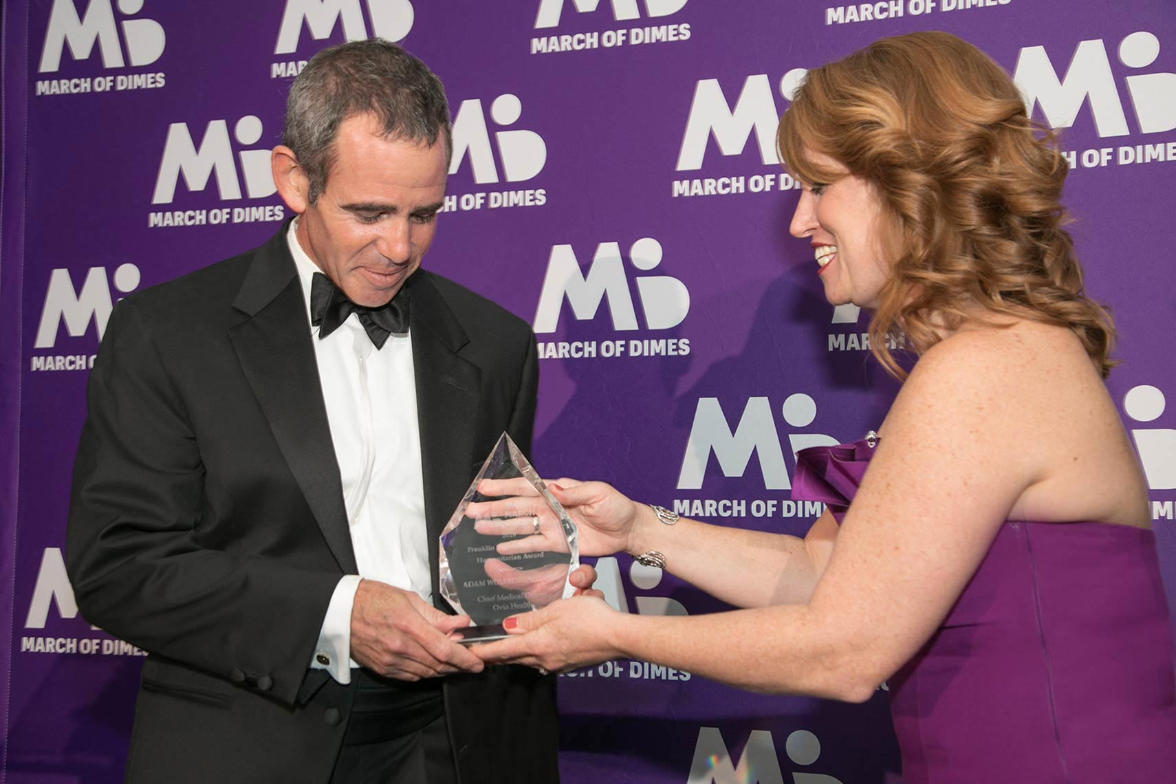 023-Dr-Wolfberg-receiving-the-March-of-Dimes-Humanitarian-Award-at-the-Black-Ties-for-Babies-gala