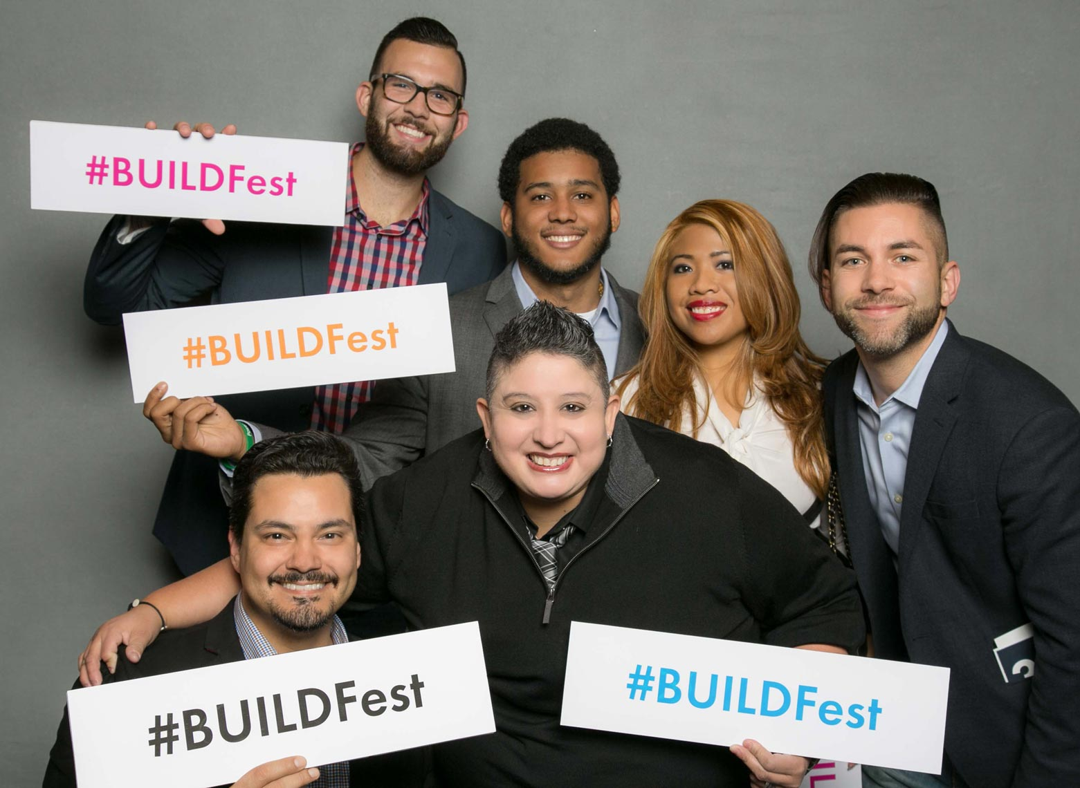 Having Fun at the Photo Booth at BuildFest Boston