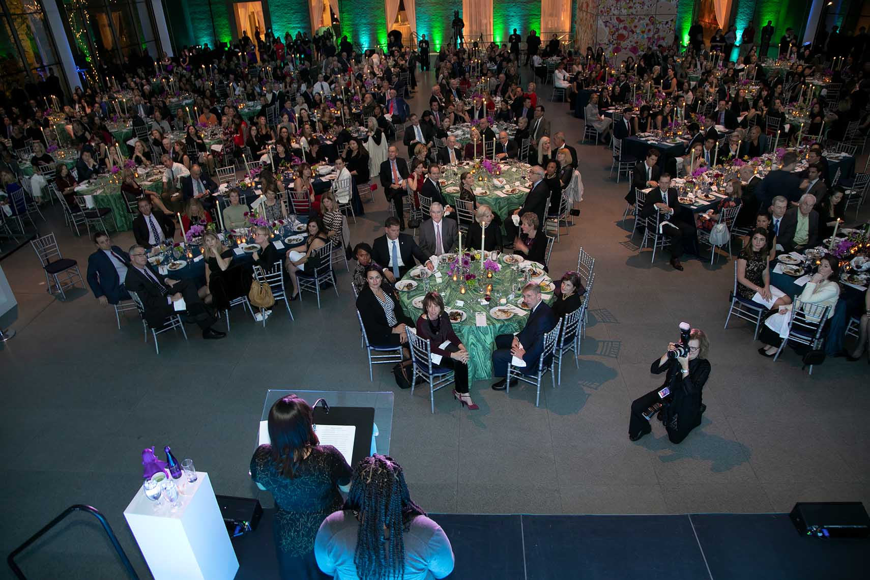 View of the Big in Boston gala from behind the stage