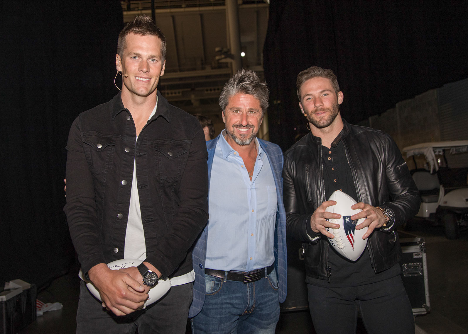 Tom Brady and Julian Edelman Backstage at the NAC Conference