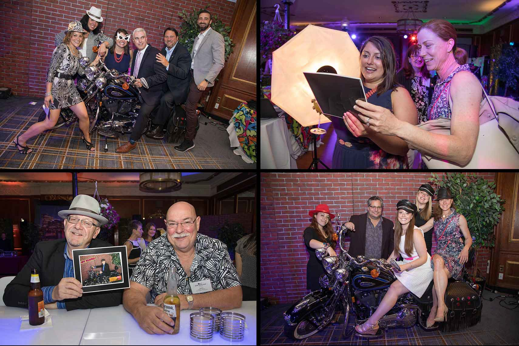 Photo Booth with a Motorcycle at the MPINE Gala 2017