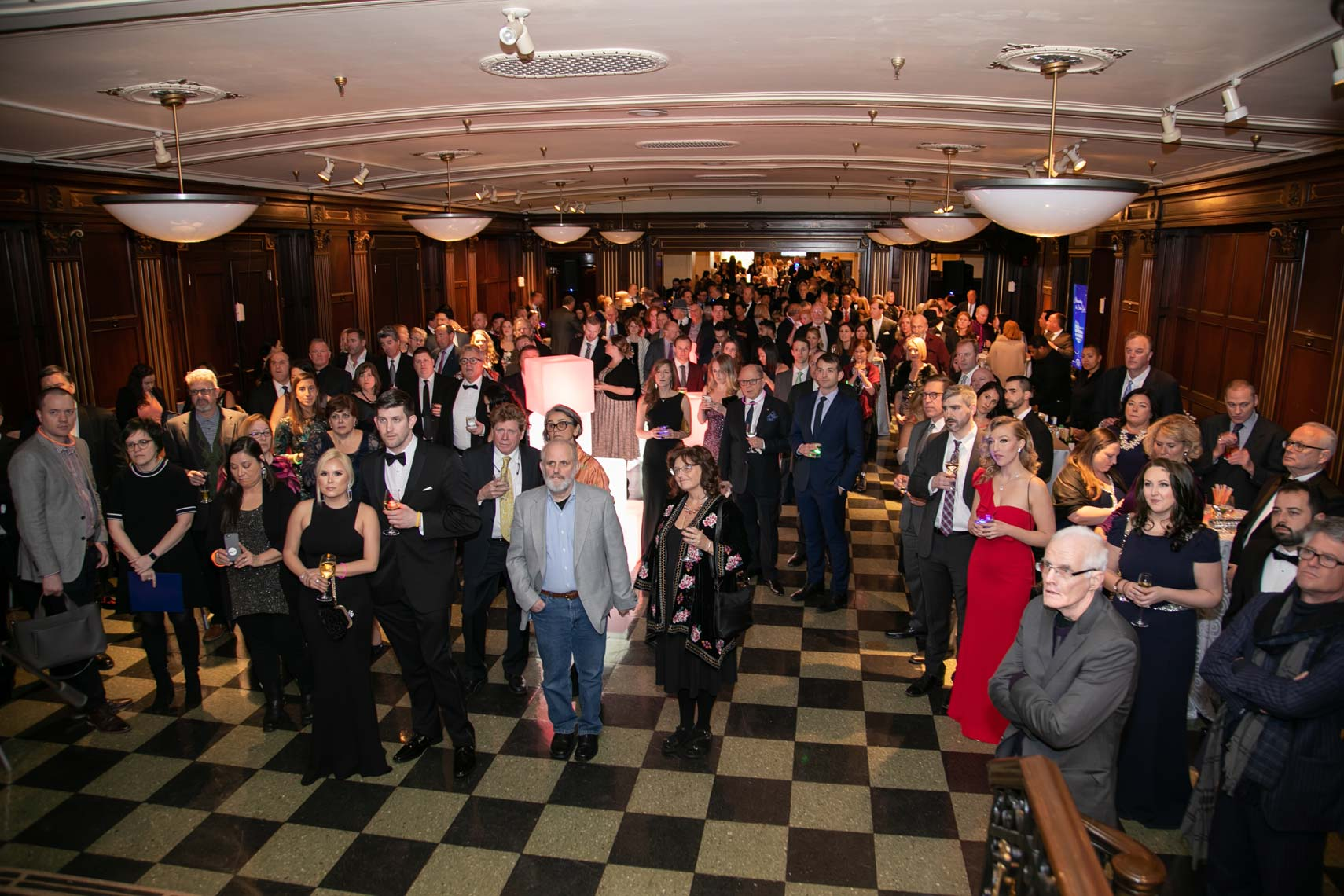Gala guests fill the new Folk/Americana/Roots Hall of Fame space