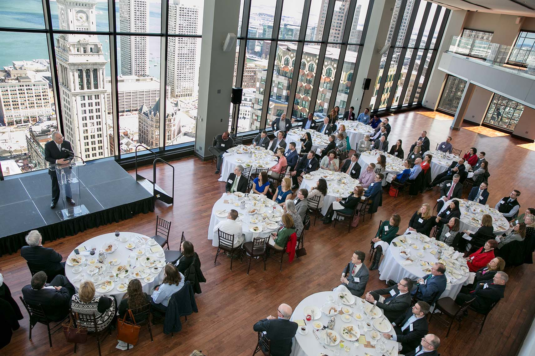 A speaker event at the State Room: A Longwood Venue in Boston