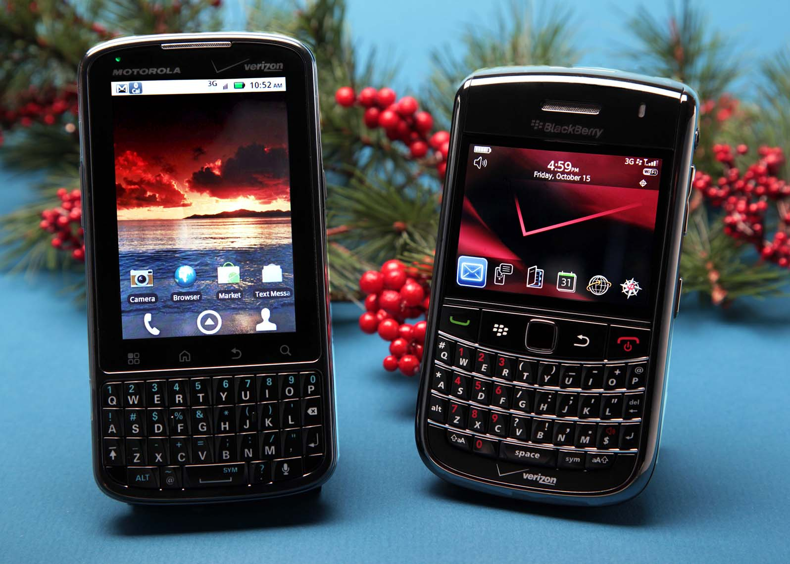 Motorola Blackberry Product Photo for Holiday Ad