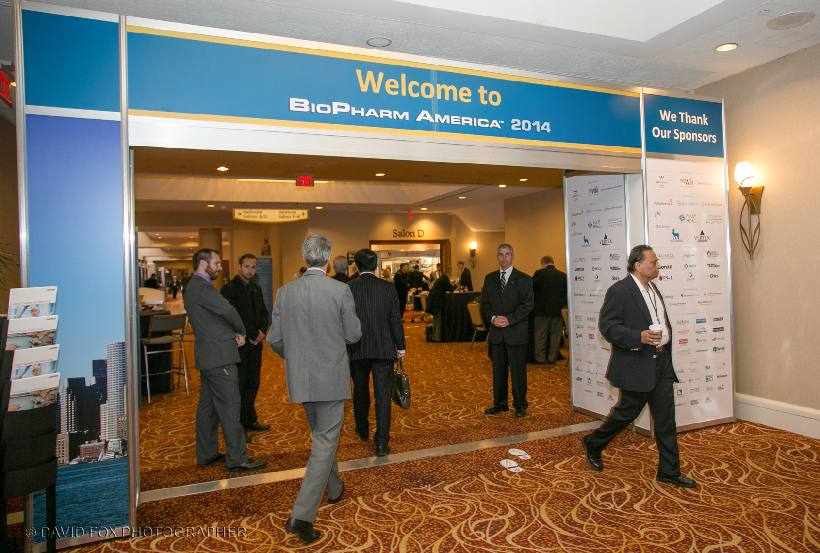Welcome Entrance to the BioPharm America Conference Boston