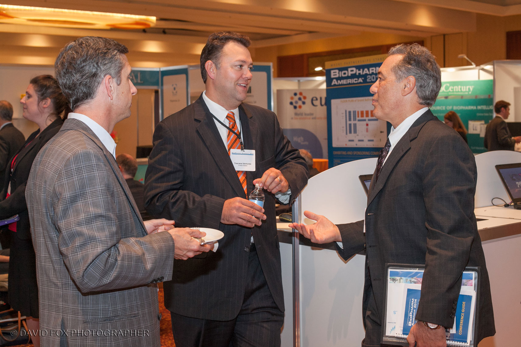 Trade Show Attendees Networking at Exhibit Hall Reception