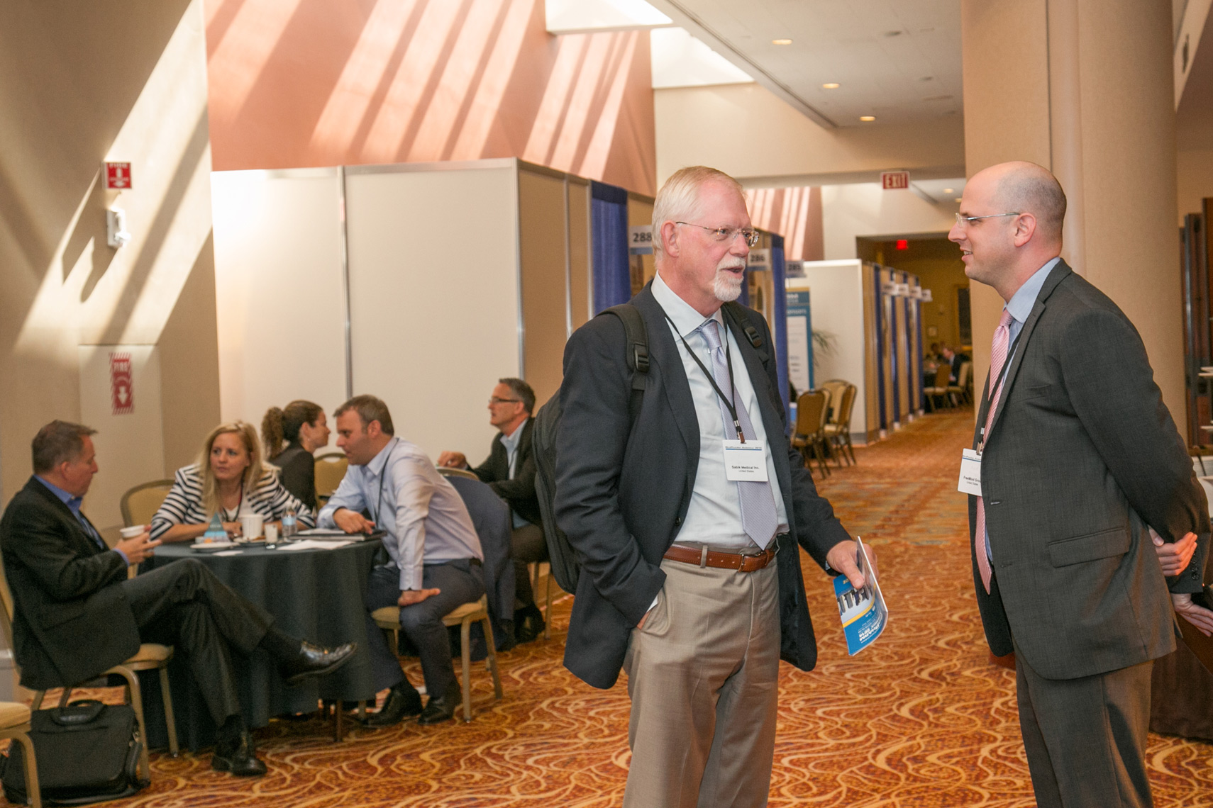 Biotech Conference Attendees Network Between Programs