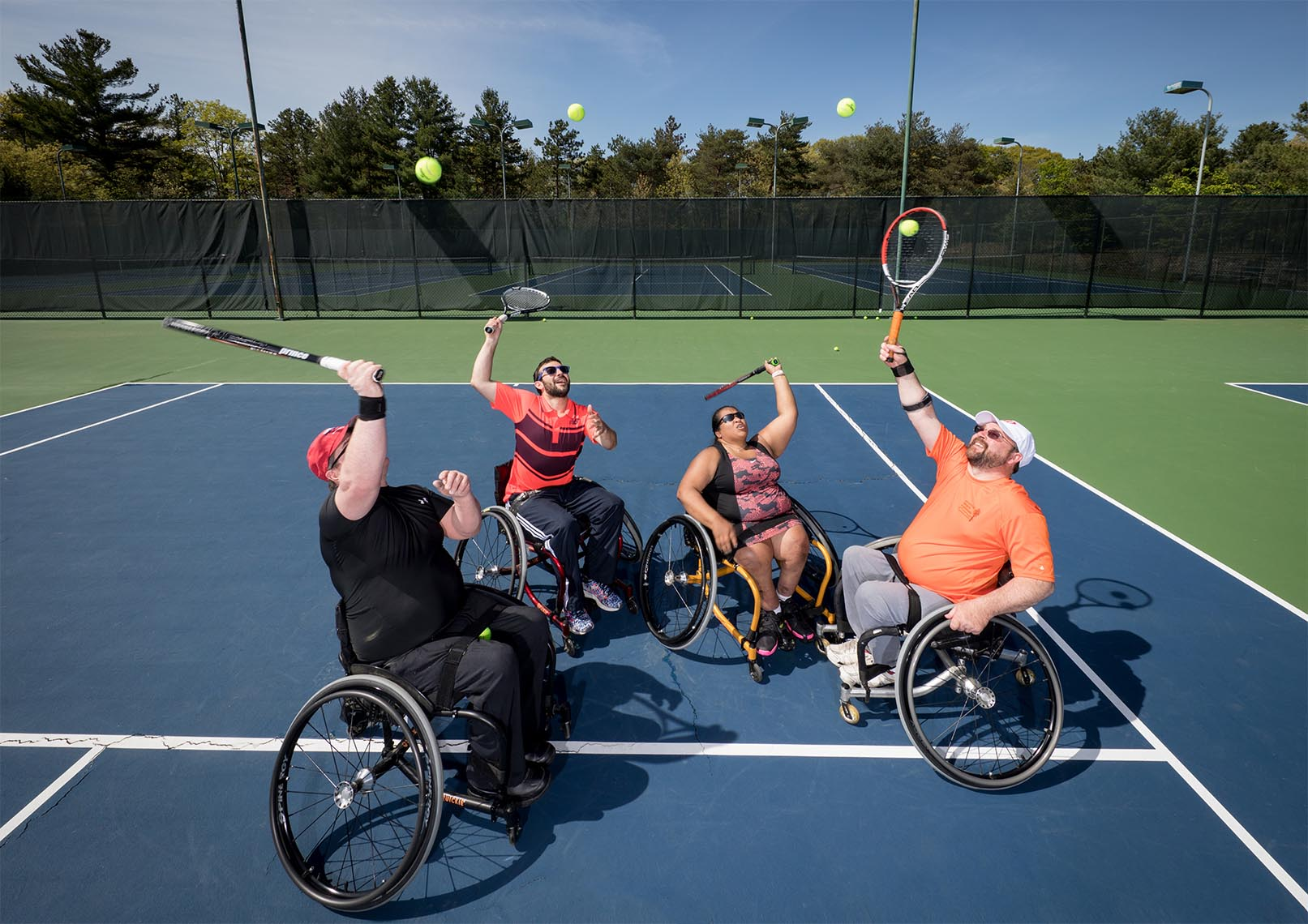 Wheelchair Tennis Players have Fun on Court with USTA New England