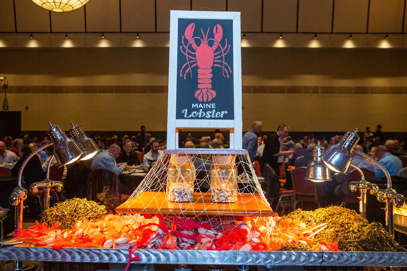 Buffet lobster dinner clambake station