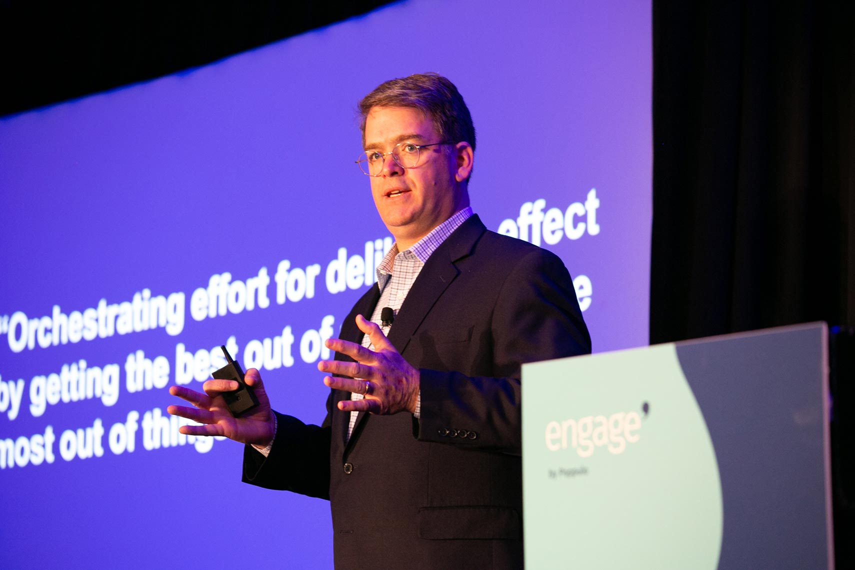 John Alderman speaking at Engage Boston