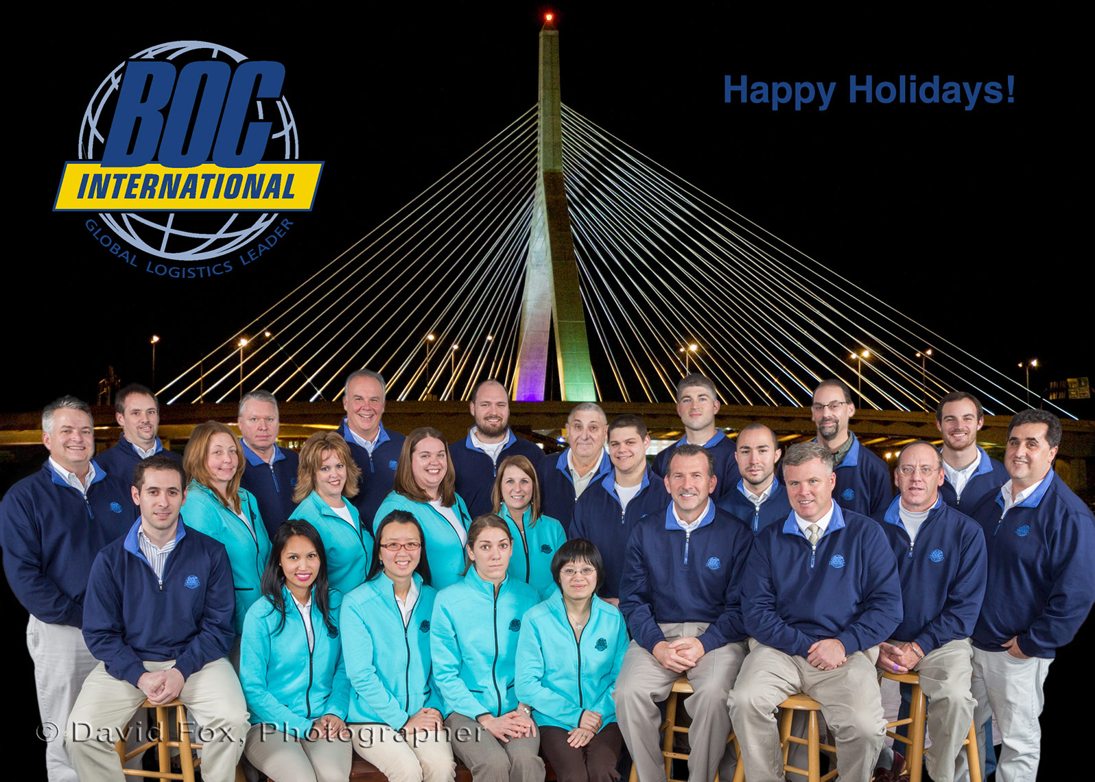 BOC International Boston Green Screen Holiday Card