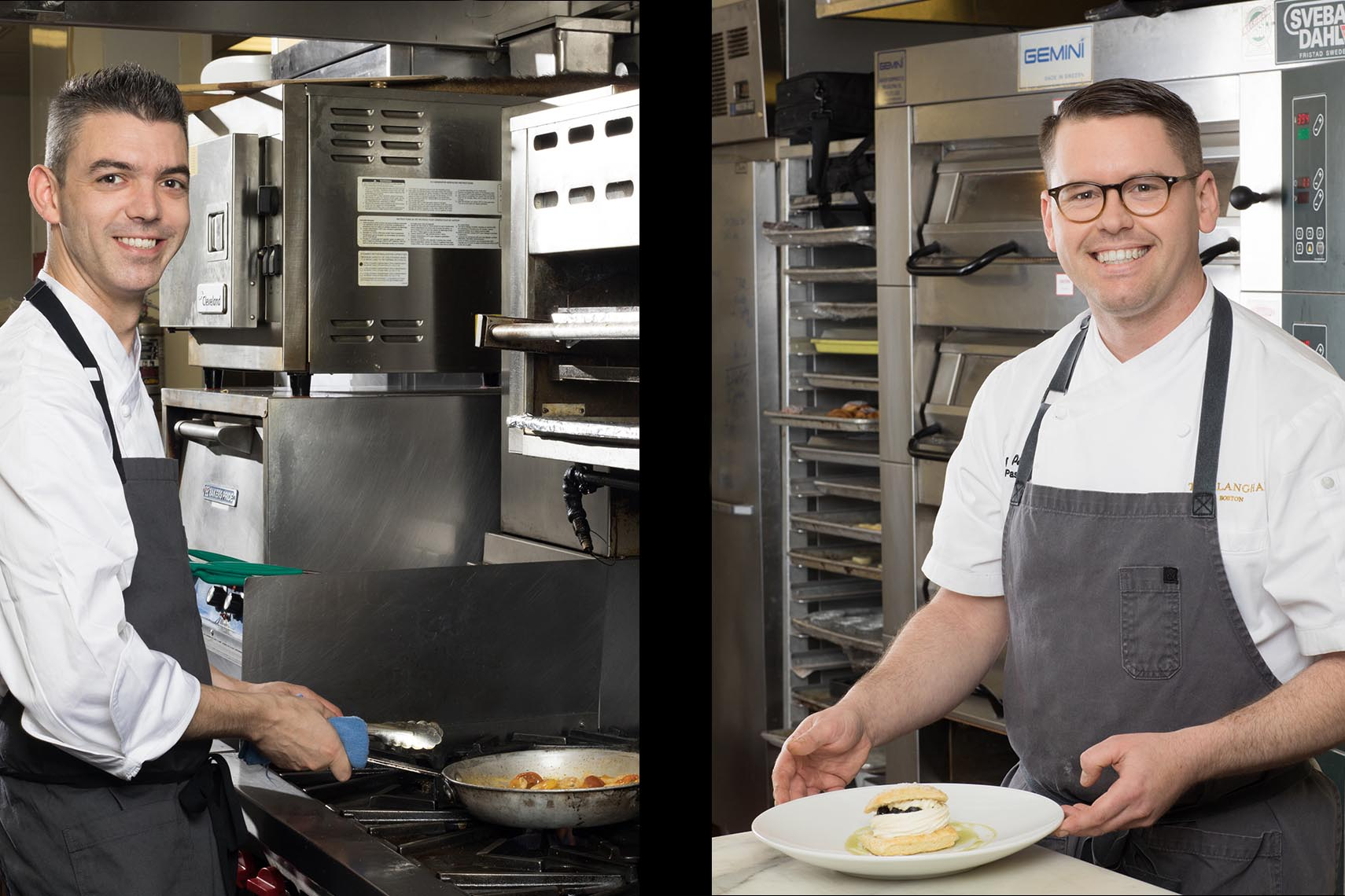 Environmental portraits of Chefs from the Langham Hotel Boston