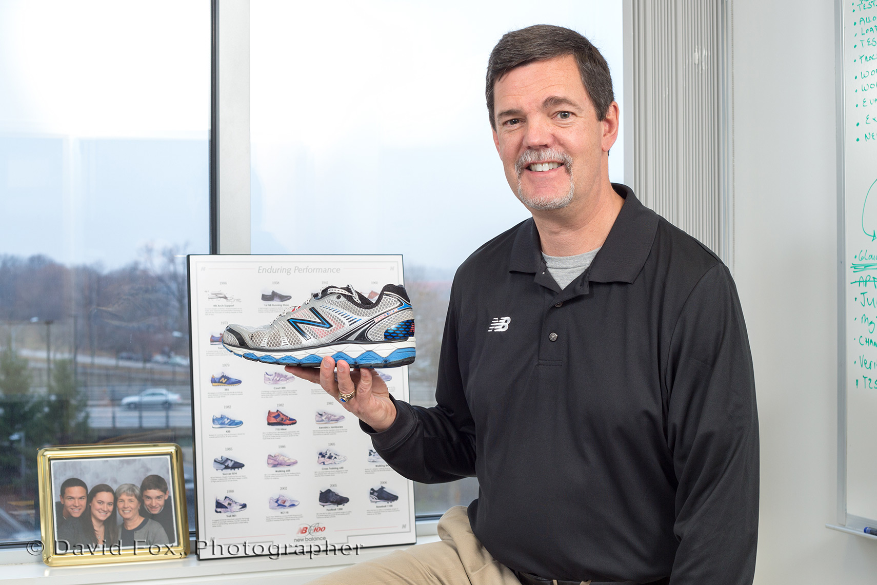 New Sneaker Displayed by Executive at Boston Corporate Office
