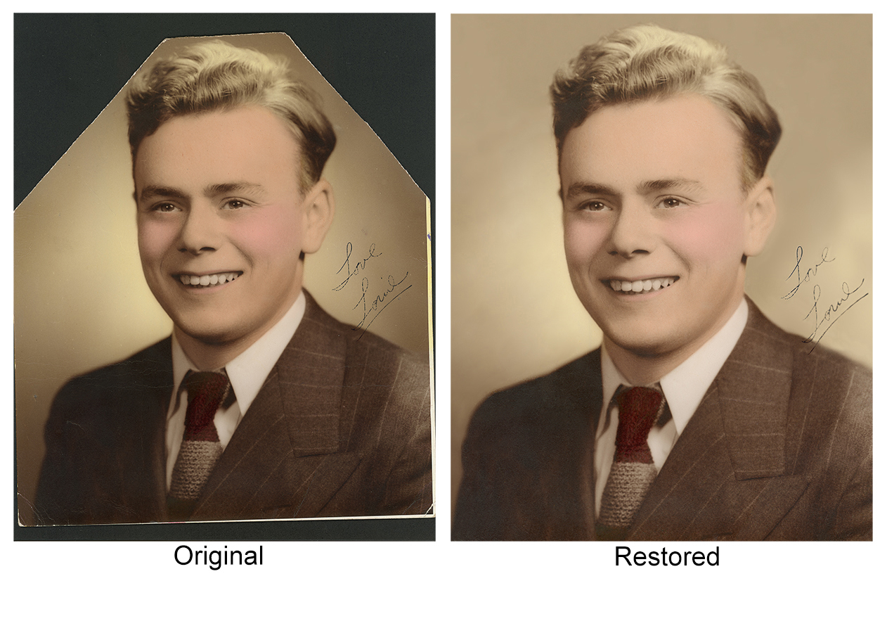 Digital Photograh Restoration Service Boston Ma.