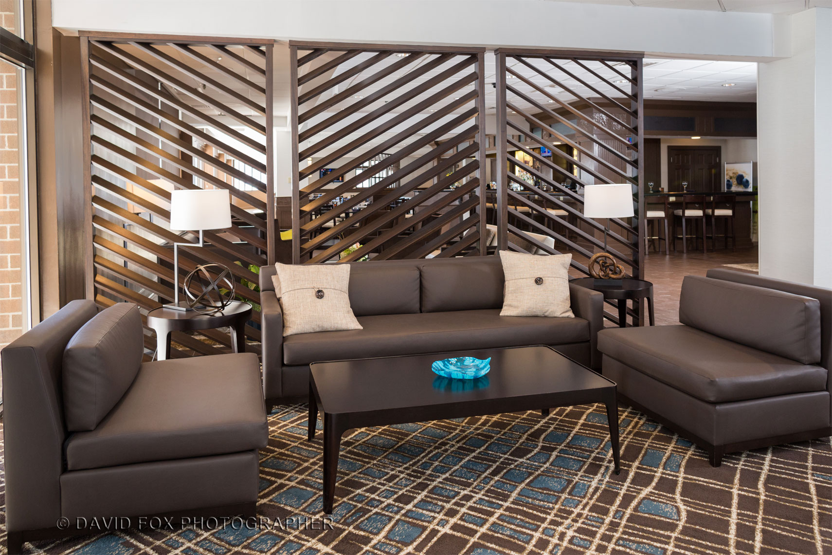 Interior Social Area DoubleTree Hilton Lobby David Fox Photographer