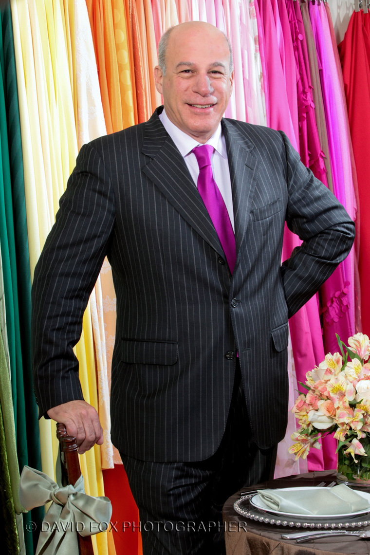 Environmental portrait  of textile businessman by David Fox photographer