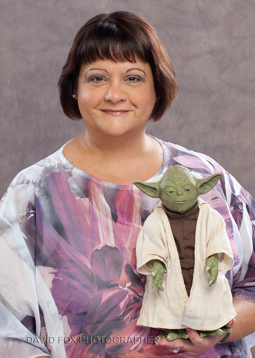 Medical Professional Fun Formal Portrait with Yoda