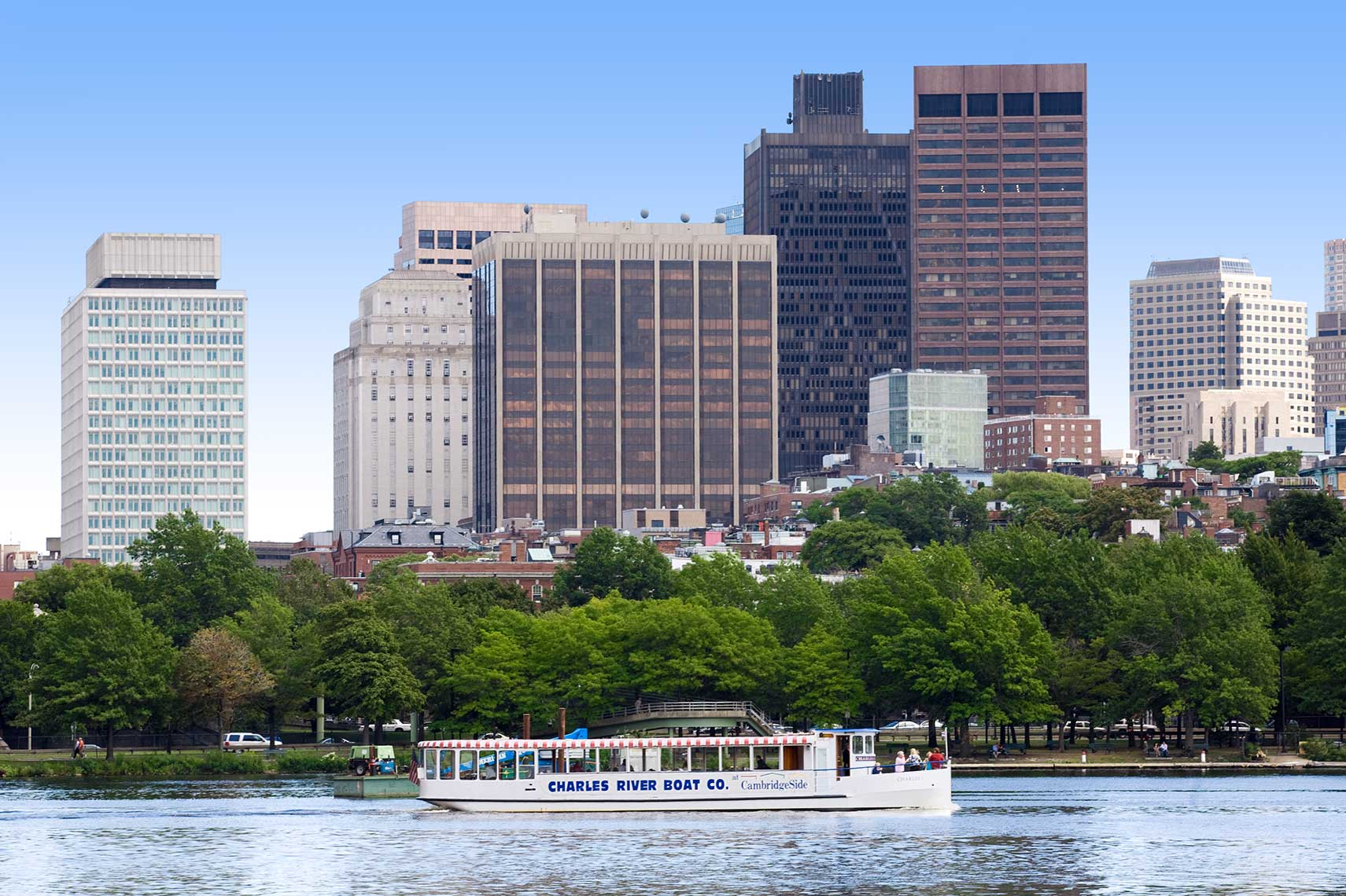 Charles Riverboat Company boat on the Charles River