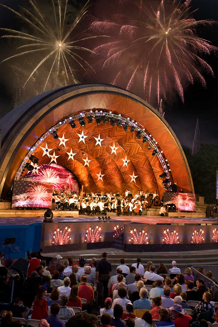 Fourth of July in Boston at the Hatch Shell