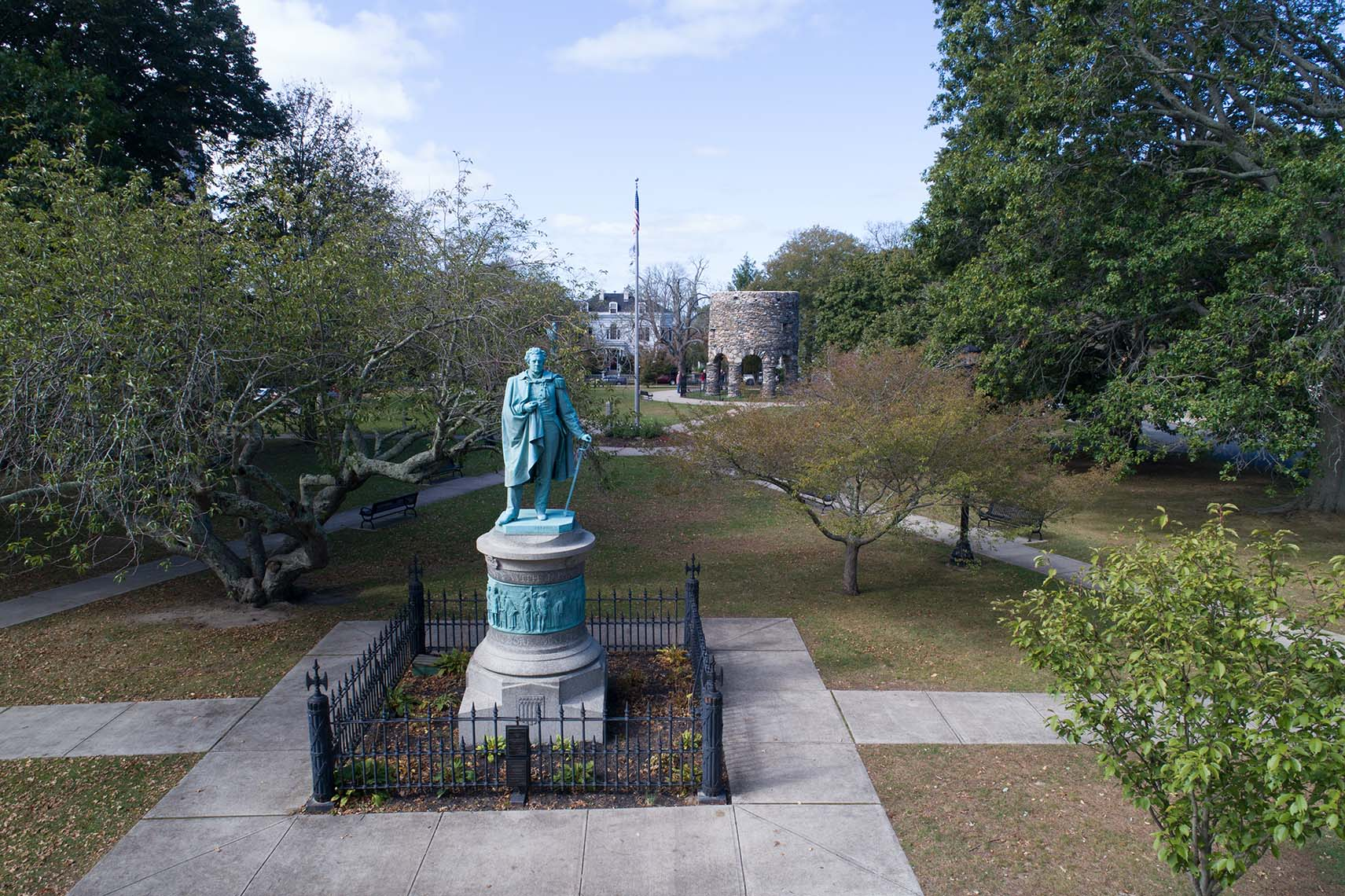 Matthew Perry Monument in Touro Park Newport RI
