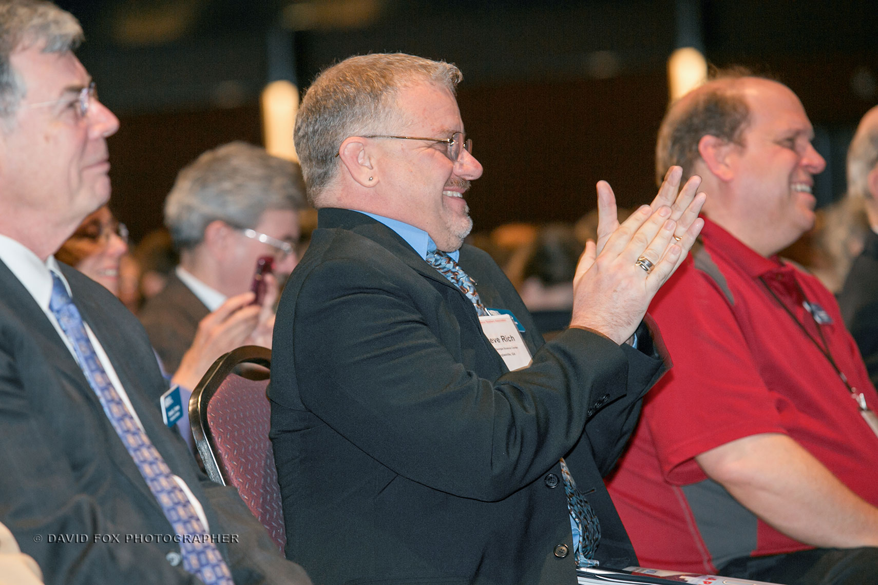 Conference Attendees Applaud Speaker at NSTA Conference