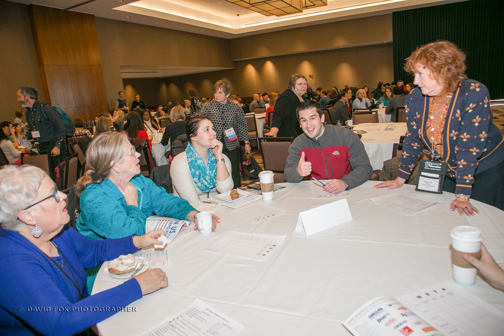 Attendees at Breakfast Table Seminar at the NSTA Conference