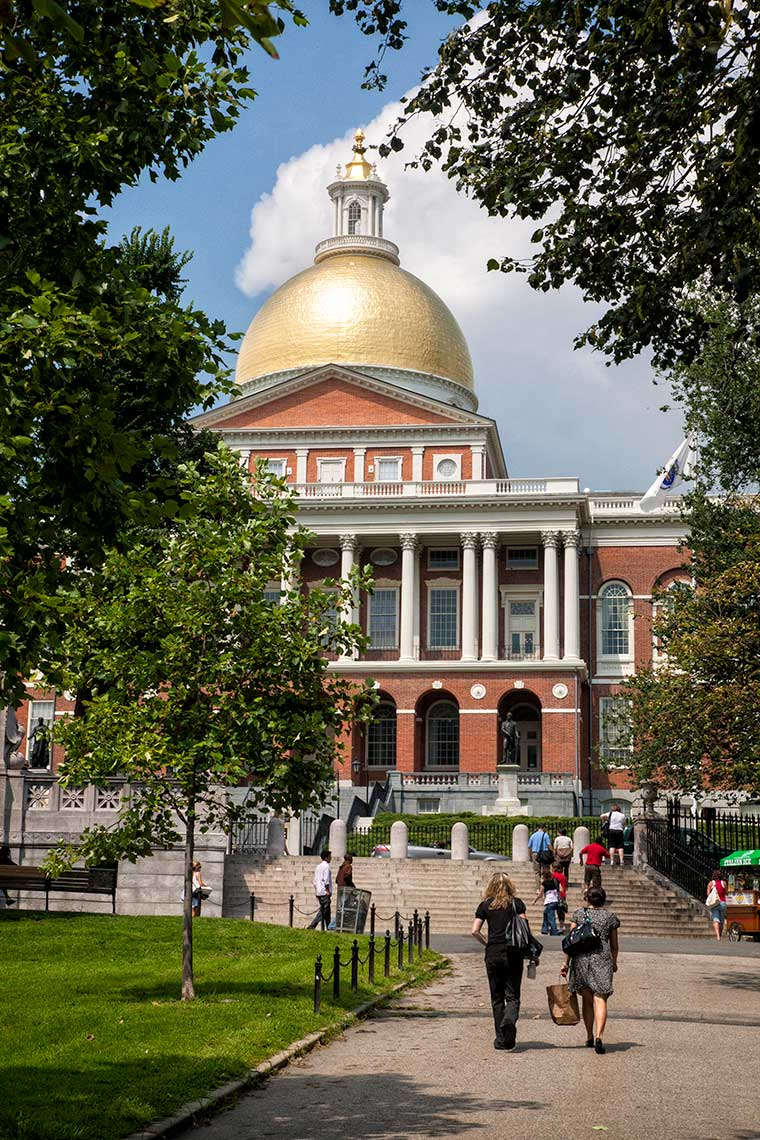 Outside the Massachusetts State House