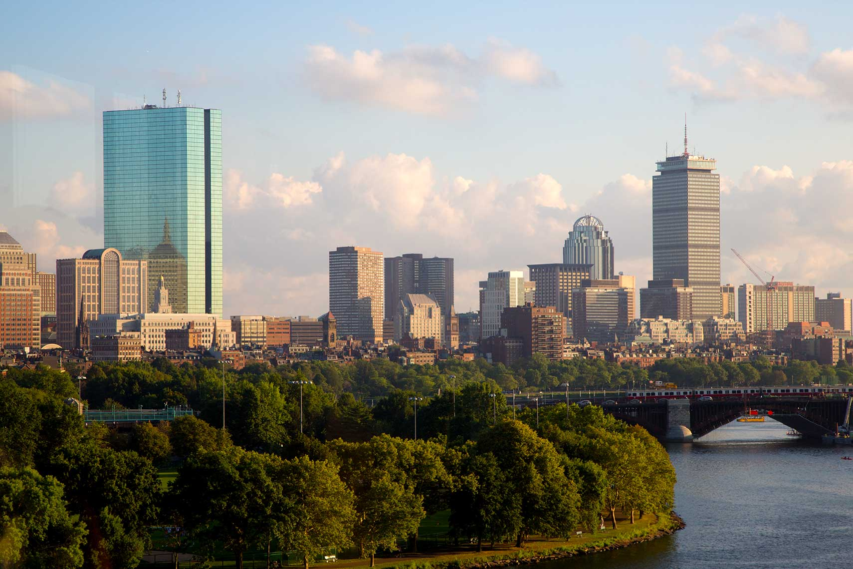 Back Bay Boston from Cambridge by the Longfellow Bridge