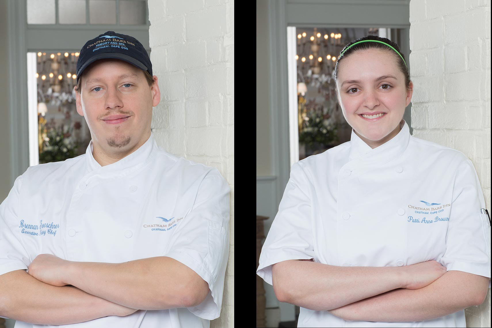 Environmental portraits of the pastry chefs of Chatham Bars Inn