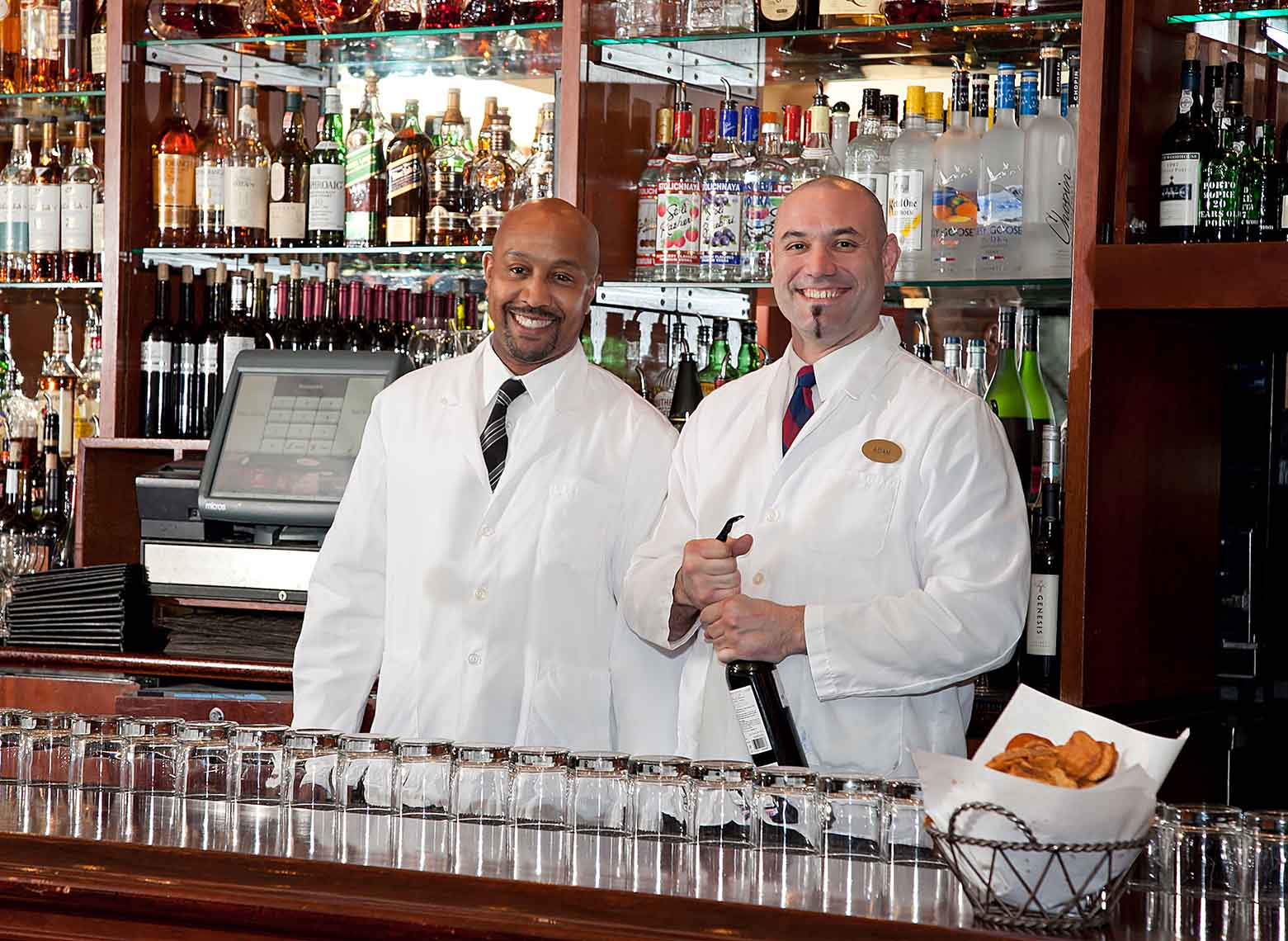 TwoFriendly Bartenders by David Fox Photographer