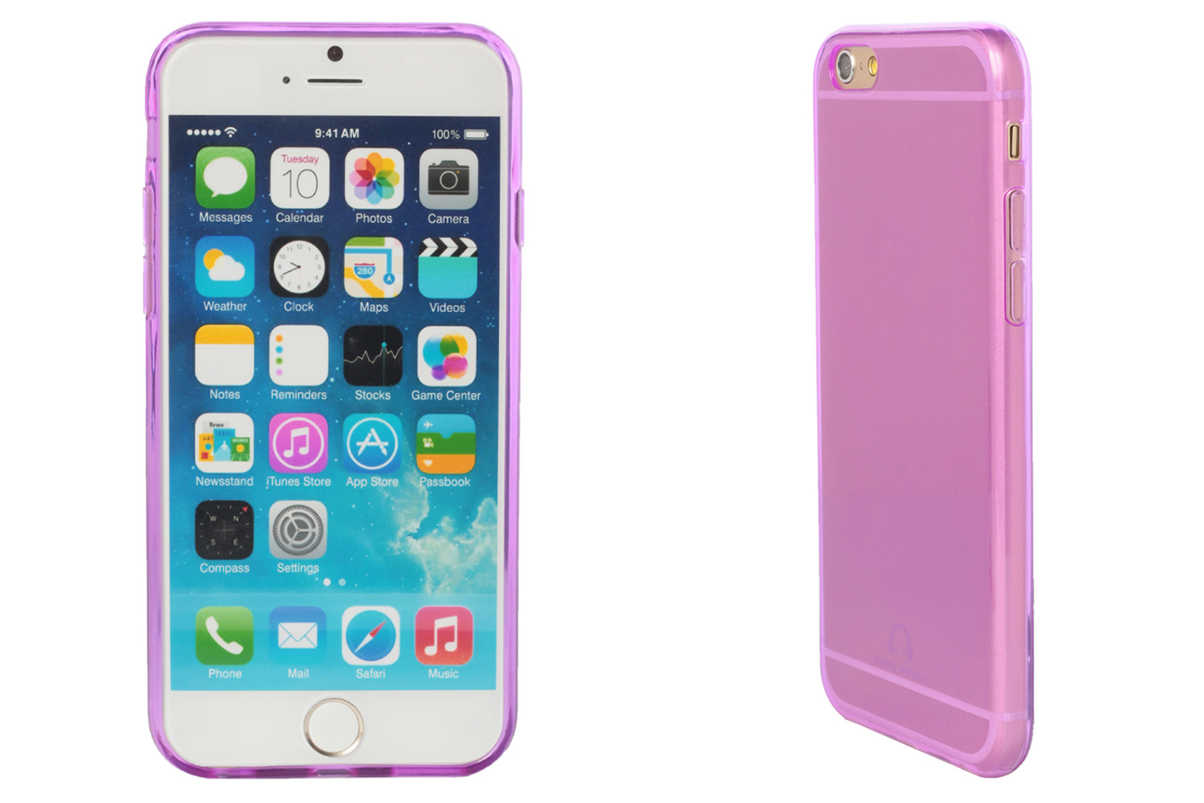 iPhone 6 Purple Case Front and Side Product Views