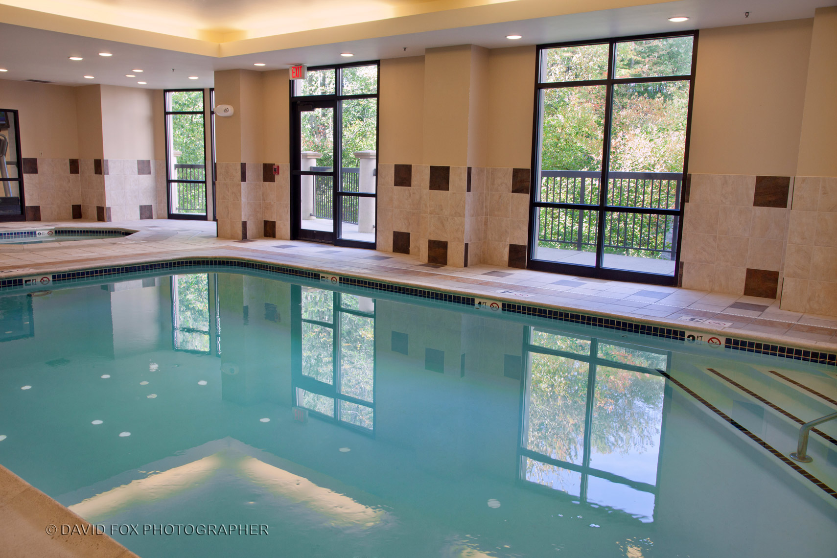 Indoor Pool Marriott Natick David Fox Photographer