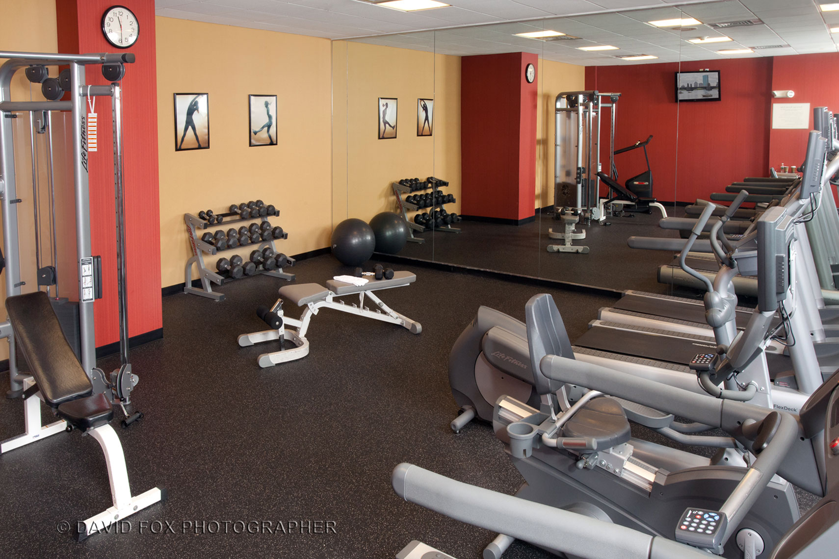 Fitness Center Interior Courtyard Marriott Woburn MA